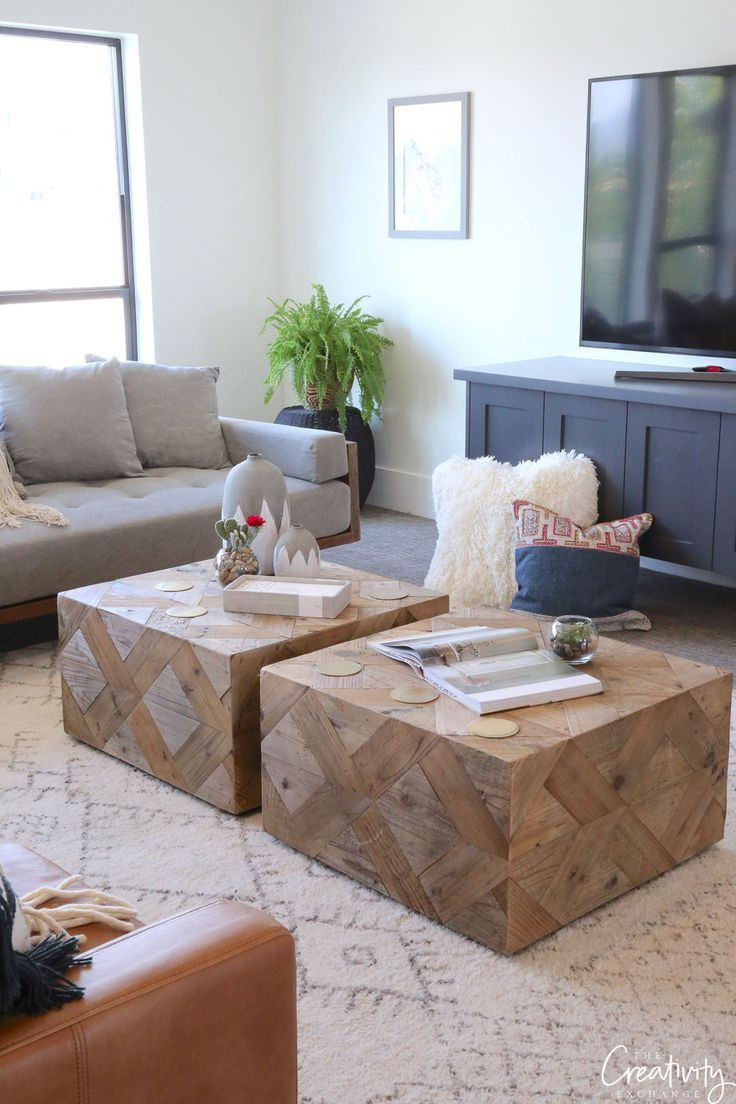 - Two Coffee Tables To Fill Up A Space Living Room Coffee Table
