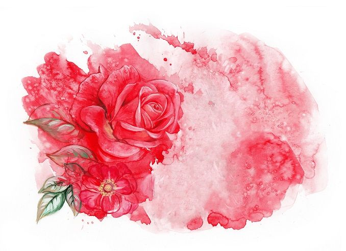 Floral background with 2 red roses by Maria Rytova