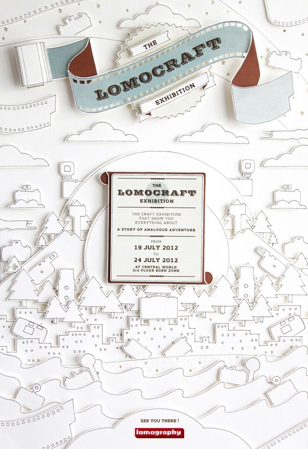 """The Lomocraft Exhibition"" handmade poster design"
