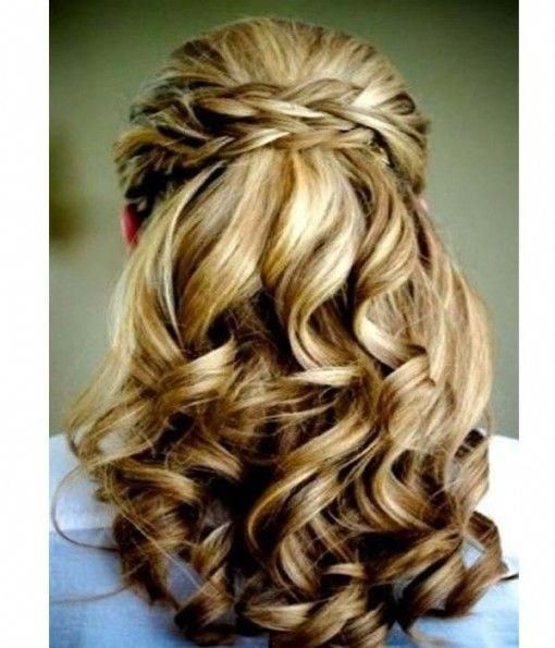 Prom Hairstyles For Short Hair Half Up Half Down  ...