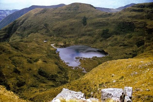Lake Iguaque is a lake located in the Boyacá Department of Colombia. The lake and the surrounding area was declared a Flora and Fauna Sanctuary in 1977.