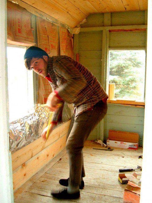 My son Scott.  He did a wonderful job on the sauna.