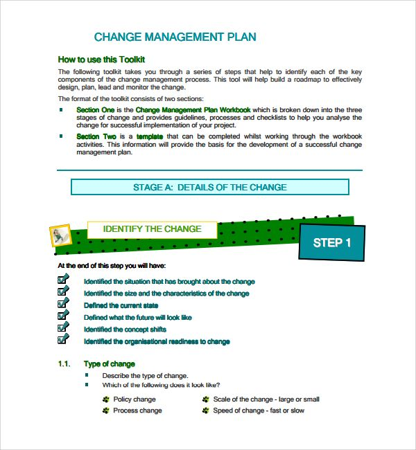 Change Management Plan Template Change Management How To Plan
