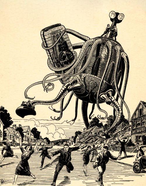 magictransistor:Frank R. Paul. The Infinite Brain. 1939.