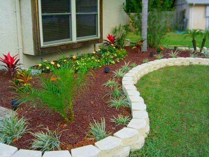 Edging Stones For Gardens Amazing Flat Stone Garden Edging With