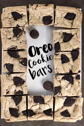 Oreo Cookie Bars @sweetasacookie