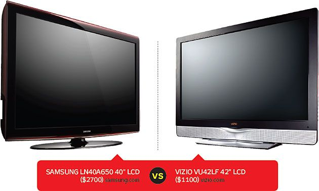 high end samsung vs budget vizio lcd tv lab test tvs. Black Bedroom Furniture Sets. Home Design Ideas