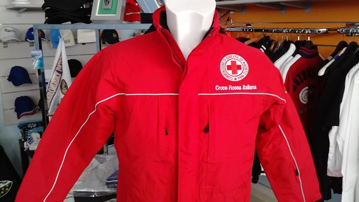 customized jacket For ITALIAN RED CROSS !!