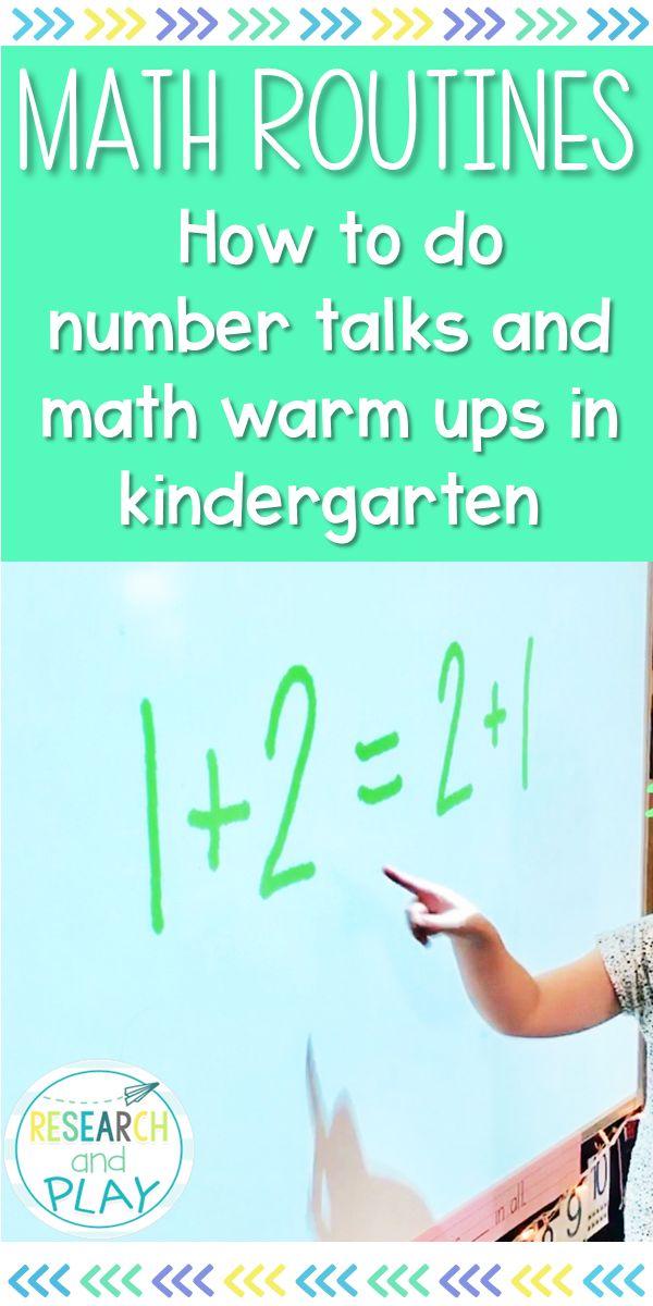 Number talks and math warm ups in Kindergarten from A Kindergarten Blog