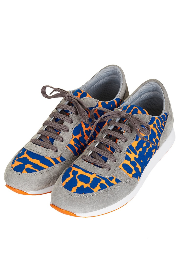 love these -  topshop techno print running shoes , a la New Balance