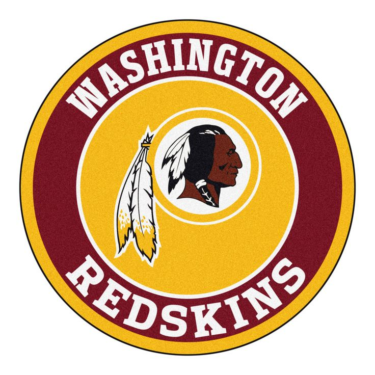 """For all those NFL fans out there, these 27"""" round rugs featuring the Washington Redskins logo and colors look great in any man cave, game room, or anywhere esle in the house, even in the parking lot w"""