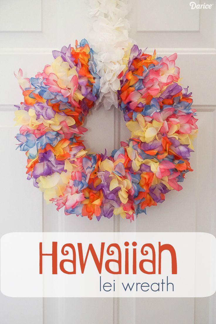 DIY Lei Wreath with Hawaiian Flower Lei – Darice