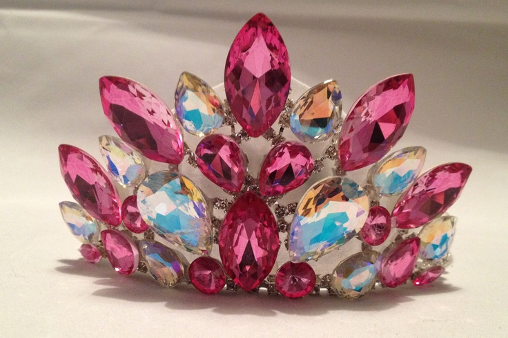 Our new Elan Tiara in Pink and AB Crystal Stones