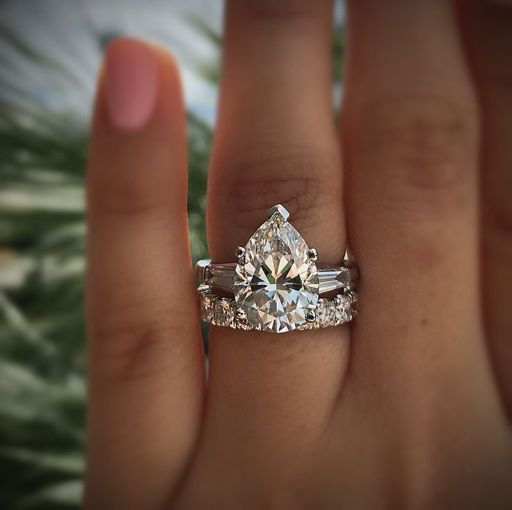 Platinum 5.28ct Pear Shape GIA Certified Diamond Engagement Ring at Raymond Lee Jewelers in Boca Raton