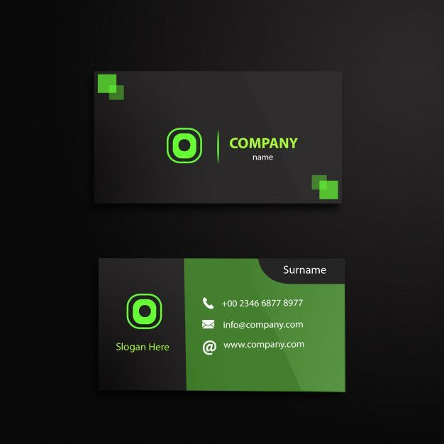 Circle And Squares Bussines Card Modern Business Cards Modern Business Cards Design Visiting Card Design
