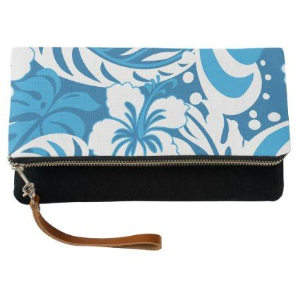 Hibiscus abstract floral clutch - floral style flower flowers stylish diy personalize
