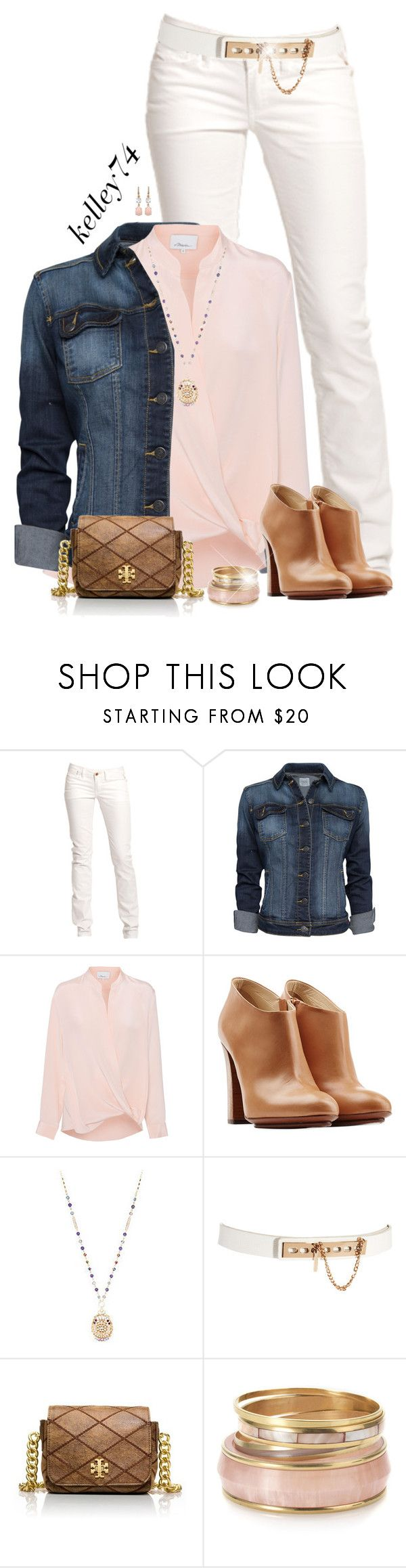 """""""Denim jacket & ankle boots"""" by kelley74 ❤ liked on Polyvore featuring Replay, MANGO, 3.1 Phillip Lim, L'Autre Chose, Lane Bryant, ASOS, Tory Burch, Monsoon and Irene Neuwirth"""
