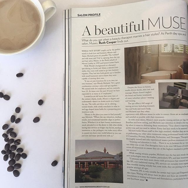 Casually sitting down with this months copy of Professional Beauty reading a pretty fab article on Museo! We are so proud of all we have achieve with Museo in both Salon and Spa and are looking forward to an even better 2018! #museoperth #professionalbeauty #mountlawley #perth #perthsalon #perthbeautyblogger #perthblogger #perthsalon #perthbeauty #perthbeautician #perthdayspa #perthcreative #perthwaxing #perthfit #perthnow #perthisok #soperth #beautifulperth