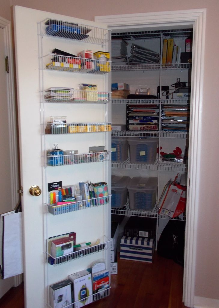 How To Organize A Home Office Supply Closet Google Search