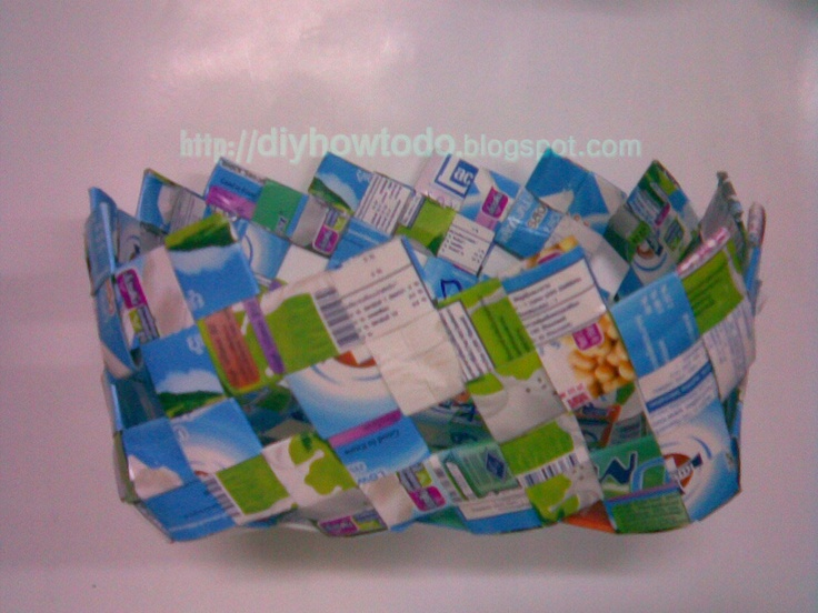 milk carton bag no sew no glue