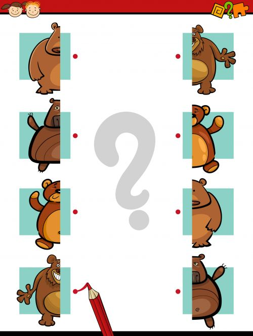 Match the bears correctly in this fun brain game! #braingames #freegames #freeworksheets #freeeducationalgames
