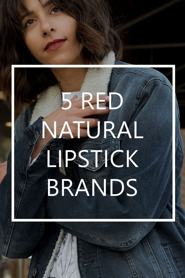 5 red natural and organic red lipstick brands