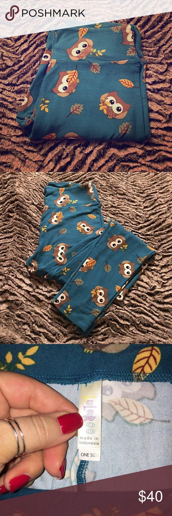 Selling this Owl Print LuLaRoe Leggings on Poshmark! My username is: kaitlynm87. #shopmycloset #poshmark #fashion #shopping #style #forsale #LuLaRoe #Pants