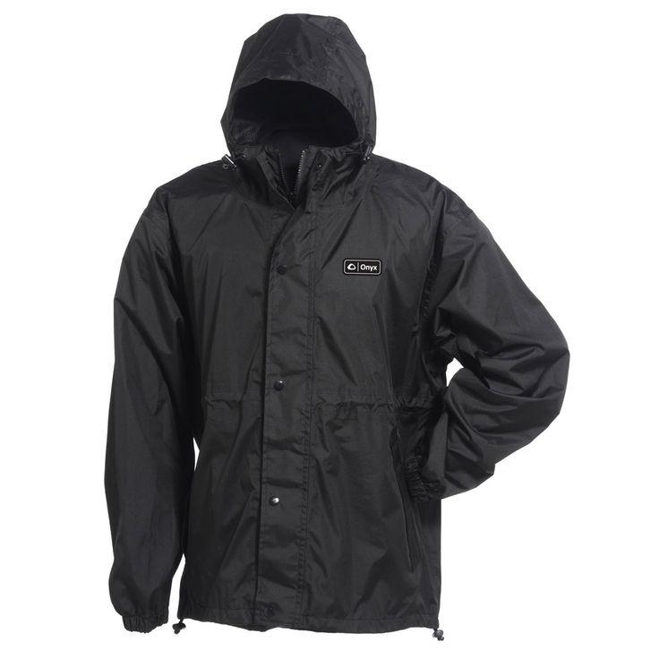 Onyx 9400 Packable Nylon Rain Jacket - Large Black - https://www.boatpartsforless.com/shop/onyx-9400-packable-nylon-rain-jacket-large-black/