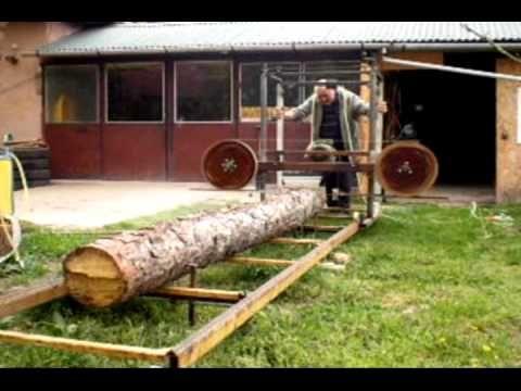 Building a homemade bandsaw mill http://youtu.be/v62lfkkISl0