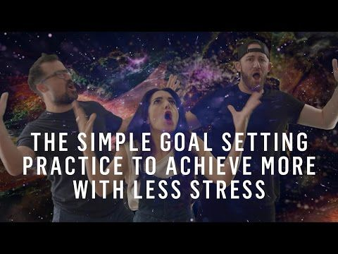 Setting Goals: Use This 2-Step Process To Achieve More With Less Stress - YouTube