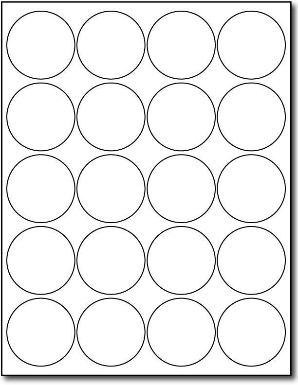 Avery 2 Round Label Template Printable