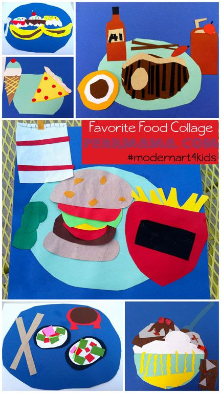 Modern Art 4 Kids: Collage project: Favorite Food Collage http://pearmama.blogspot.com/2013/02/modern-art-4-kids-favorite-food-collage.html