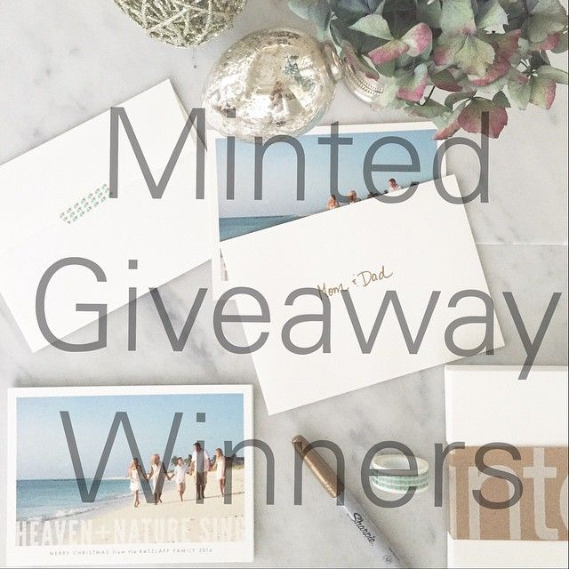"""So excited to announce the two winners of the $150 giveaway from @minted !! Congratulations @erincg and Andrea P.  Deets coming your way via email. Would…"""