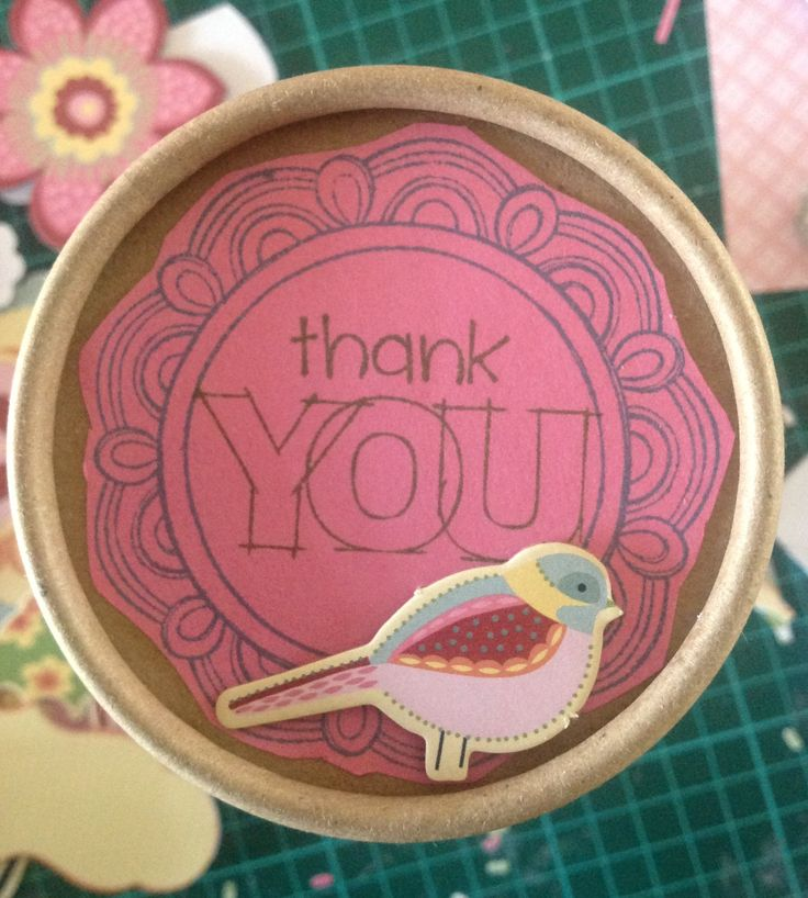 Top of the thank you container made with Lagoon Exclusive Ink Pad, A True Thank You Occasions Stamp Set, Frame Flair Flair Stamp Set, and Chantilly Assortments.