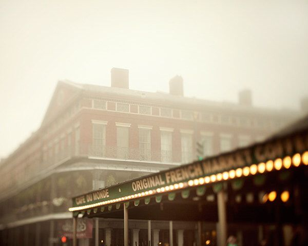 Cafe du Monde - New Orleans Photography, Fog, Coffee, Brown, Travel Photography, Autumn Colors, French Quarter Art by EyePoetryPhotography on Etsy https://www.etsy.com/listing/129001532/cafe-du-monde-new-orleans-photography
