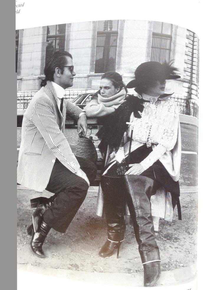 Anna Piaggi and Karl Lagerfeld