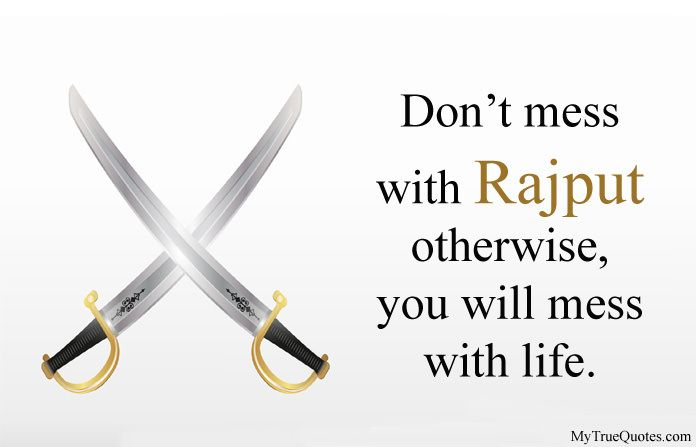 Rajputana Status in English | General | Rajput quotes