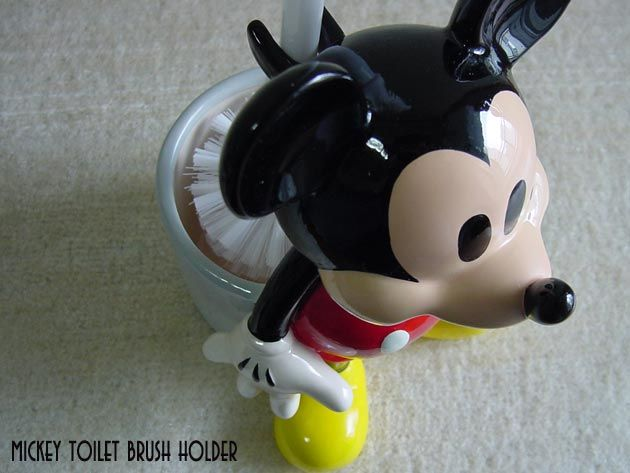 Mickey toilet brush holder