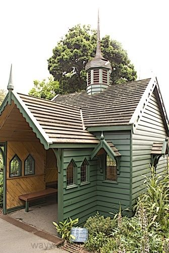 William Tell Rest House in the Melbourne Royal Botanical Gardens.