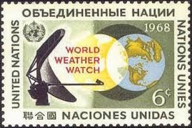 """world weather watch on United nations stamps"""