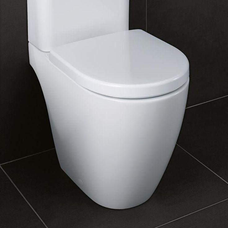 Keramag iCon Comfort Stand-Tiefspül-WC ohne Spülrand weiß mit KeraTect