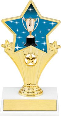 Achievement Super Star Trophy | Dinn Trophy New! Achievement super star trophy. Featuring 40 letters of free trophy personalization, this trophy is an unbeatable value ($0.10 per additional character)!