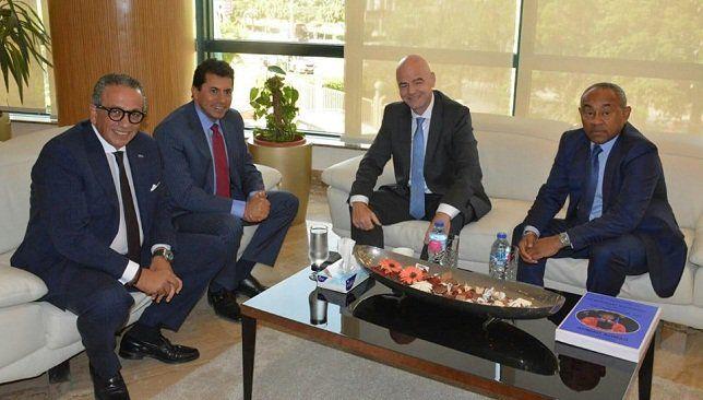 تفاصيل زيارة رئيس فيفا لمقر اتحاد الكرة المصري موقع سبورت 360 استقبل اليوم جياني أنفانتينو رئيس