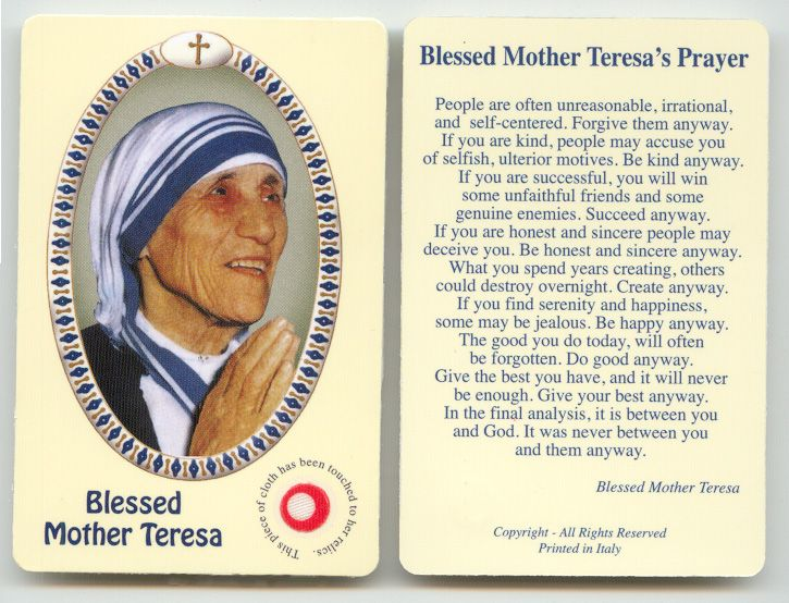 a biography of mother teresa the roman catholic religious sister and missionary Mother teresa was the founder of the order of the missionaries of charity, a roman catholic congregation of who commanded him to rebuild the christian church.
