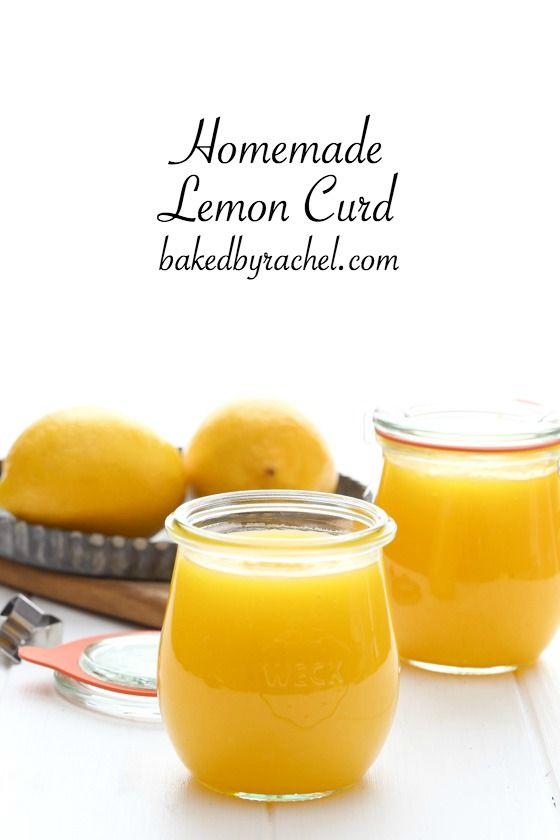 Easy homemade lemon curd, ready in under 15 minutes! Recipe from @bakedbyrachel
