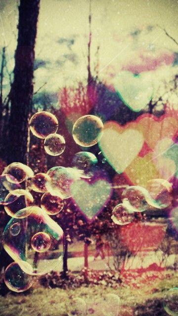 Love & bubbles #vintage wallpaper @mobile9