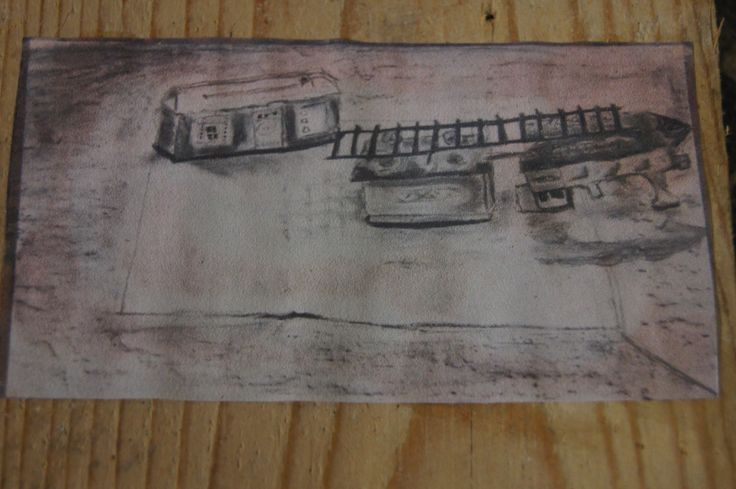 Houtskool tekening van een voorwerp uit de kringloopwinkel.