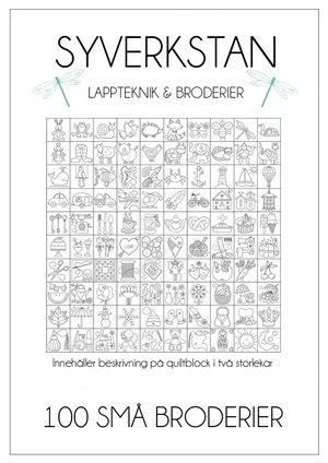 Broderimönster och beskrivning på quiltblock i två storlekar