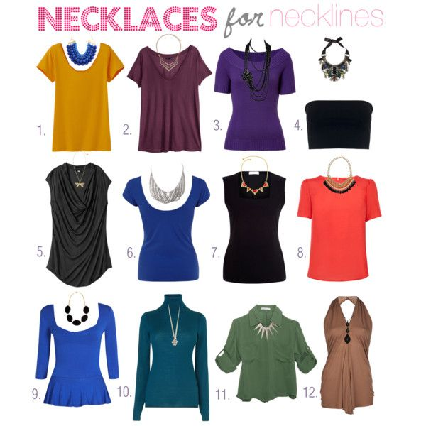 Necklaces for Necklines - a guide to choosing complentary styles.