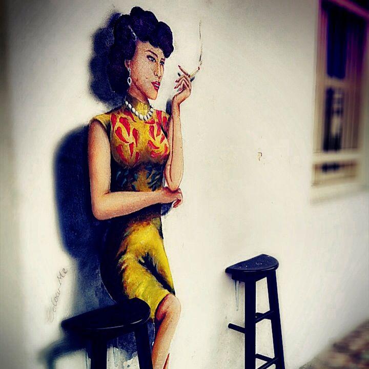 """A Woman"" - Penang Street Art"